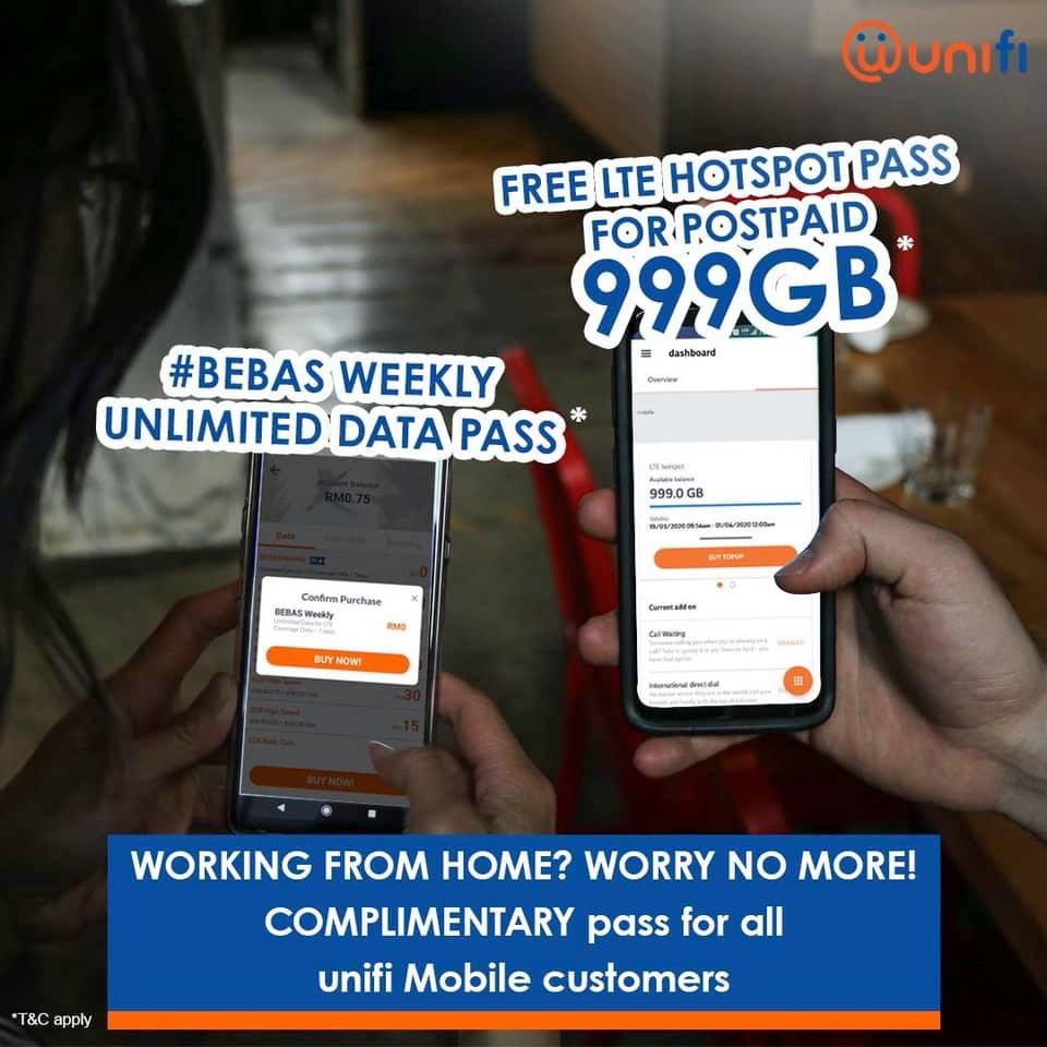 unifi mobile  free data